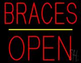 Braces Block Open Yellow Line LED Neon Sign