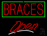 Red Braces Open LED Neon Sign