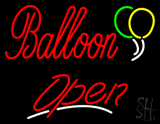 Balloon Open Red LED Neon Sign