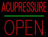 Acupressure Block Open Green Line LED Neon Sign