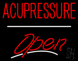 Acupressure Open White Line LED Neon Sign
