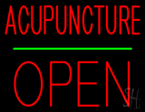 Acupuncture Block Open Green Line LED Neon Sign