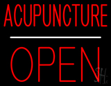 Acupuncture Block Open White Line LED Neon Sign