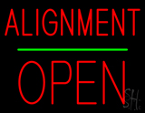 Alignment Open Block Green Line LED Neon Sign