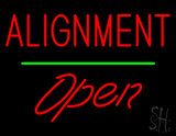 Alignment Open Green Line LED Neon Sign