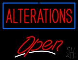 Red Alterations Open White Line LED Neon Sign