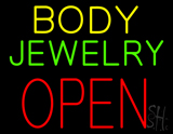 Body Jewelry Open in Block LED Neon Sign