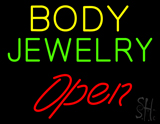 Body Jewelry Open LED Neon Sign