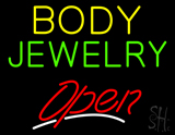 Body Jewelry Open Red Neon Sign