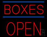 Boxes Open Block Neon Sign