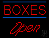 Boxes Double Line Open LED Neon Sign