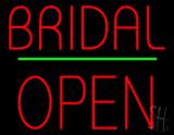 Bridal Block Open Green Line LED Neon Sign