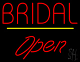 Bridal Yellow Line Open LED Neon Sign
