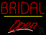 Bridal Block Yellow Line Open LED Neon Sign