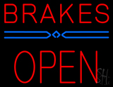 Red Brakes Open Block LED Neon Sign