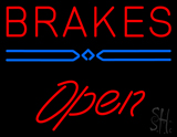 Red Brakes Open LED Neon Sign