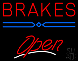 Brakes Open LED Neon Sign
