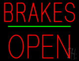 Brakes Open Block Green Line LED Neon Sign