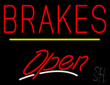 Brakes Open Yellow Line LED Neon Sign