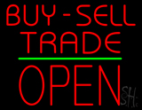 Red Buy Sell Trade Block Open Green Line LED Neon Sign