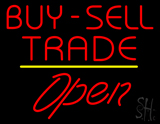 Buy Sell Trade Open Yellow Line LED Neon Sign