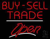 Buy Sell Trade Open White Line LED Neon Sign