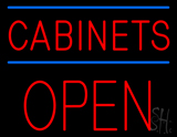 Cabinets Block Open LED Neon Sign