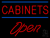 Cabinets Script1 Open LED Neon Sign