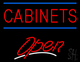 Cabinets Script2 Open LED Neon Sign