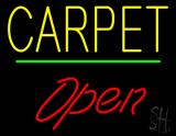 Carpet Script1 Open Green Line LED Neon Sign