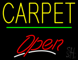 Carpet Script2 Open Green Line LED Neon Sign