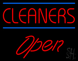 Red Cleaners Open LED Neon Sign