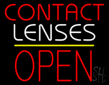 Contact Lenses Block Open Yellow Line LED Neon Sign