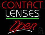 Contact Lenses Open Green Line LED Neon Sign