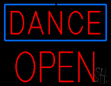 Red Dance Block Open LED Neon Sign