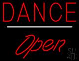 Dance Open White Line LED Neon Sign