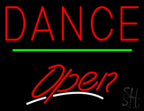 Dance Open Green Line LED Neon Sign