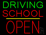 Driving School Open Block Yellow Line LED Neon Sign