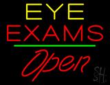 Eye Exams Open Green Line LED Neon Sign