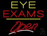 Eye Exams Open Yellow Line LED Neon Sign