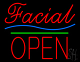 Red Facial Block Open LED Neon Sign