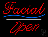 Facial Open White Line LED Neon Sign