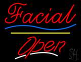 Facial Open Yellow Line LED Neon Sign