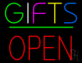 Gifts Block Open Green Line LED Neon Sign