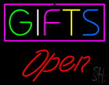 Gifts Block Open Red LED Neon Sign