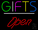 Gifts Open White Line LED Neon Sign