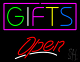 MultiColored Gifts Open LED Neon Sign
