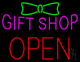 Gift Shop Block Open LED Neon Sign