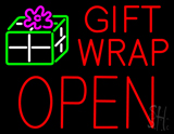 Gift Wrap Block Open LED Neon Sign