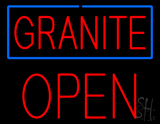 Granite Block Open LED Neon Sign